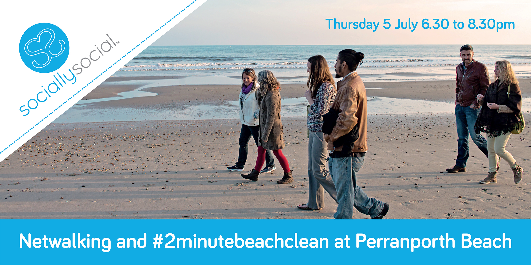 Cornwall Launch: Netwalking and #2minutebeachclean